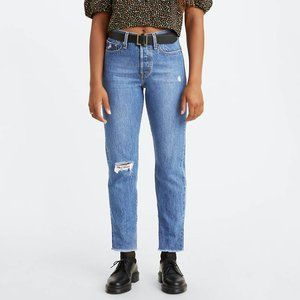 Levi's Wedgie Fit High Waisted Distressed Jeans 30